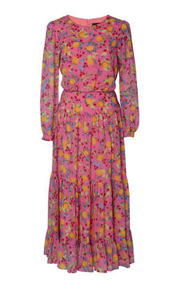 b1f2788e3ad Saloni Isabel Printed Silk-Georgette Midi Dress