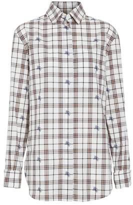 Burberry Fil Coupe Check Cotton Shirt