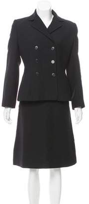 Dolce & Gabbana Structured Wool Skirt Suit