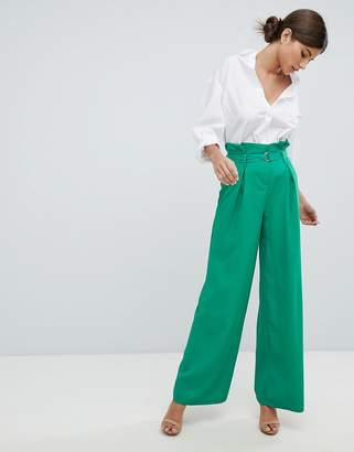 Missguided Wide Leg Paperbag Pants