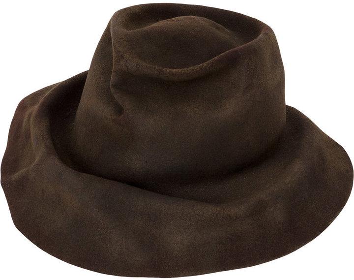 Horisaki Design & Handel wrinkled fedora hat