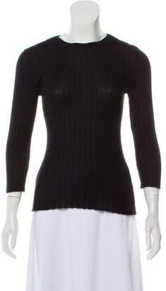 Autumn Cashmere Rib Knit Cashmere Sweater