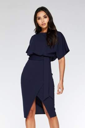 Next Womens Quiz Batwing Belted Midi Dress
