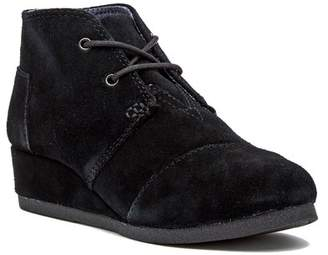Toms Suede Wedge Bootie (Little Kid & Big Kid)