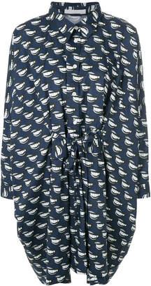 Peter Jensen lip print oversized shirt dress