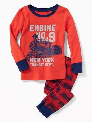 """Old Navy """"Engine No.9"""" Train Sleep Set for Toddler Boys & Baby"""