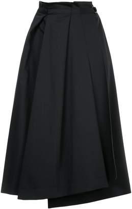 Jil Sander Navy pleated A-line skirt