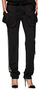 Valentino Women's Satin- & Velvet-Trimmed Cargo Pants-Black