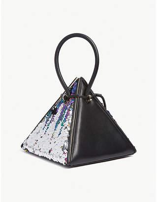 NITA SURI Lia sequinned leather handbag