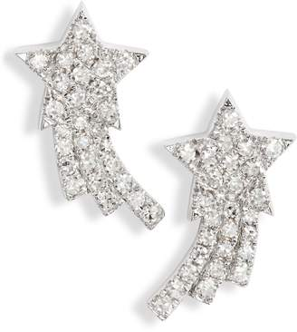 Ef Collection Shooting Star Diamond Earrings