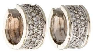 14K Diamond Pavé Huggie Earrings