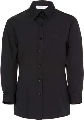 Carolina Herrera Classic Slim-Fit Button Down Shirt Size: 0