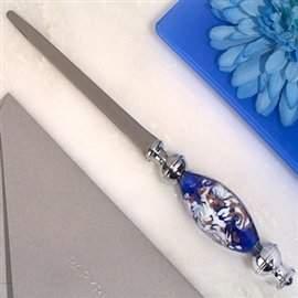 Murano Cassiani 1 Dazzling Art Blue and White Letter Opener