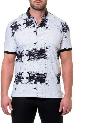 Maceoo Shaped Fit Splatter-Paint Polo Shirt