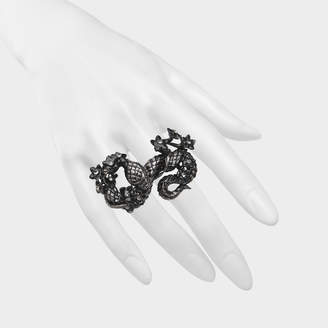 Roberto Cavalli Snake Flowers ring