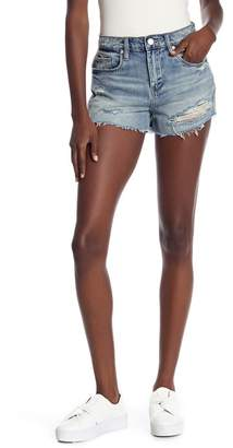 Blank NYC BLANKNYC Denim The Barrow Distressed Side Stripe Denim Shorts