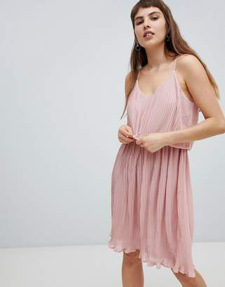 Pieces Pleated Slip Dress