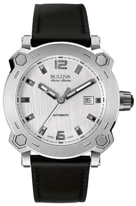 Bulova Men's Percheron Automatic Leather Strap Watch, 42mm