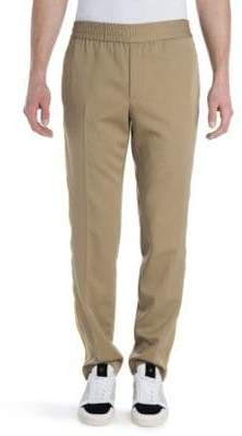 Palm Angels Virgin Wool Trimmed Trousers