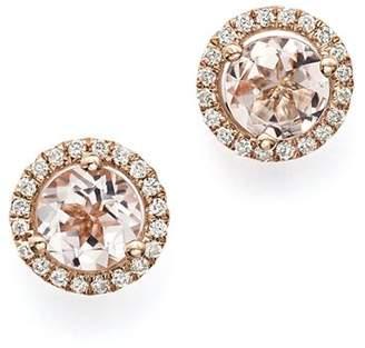 Bloomingdale's Morganite and Diamond Stud Earrings in 14K Rose Gold - 100% Exclusive