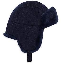 Inverni Women's Matilde Fur Lined Trapper Hat