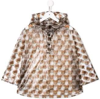 Moschino Kids bear print hooded raincoat