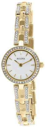 Bulova Women's Crystal Bracelet Watch $299 thestylecure.com
