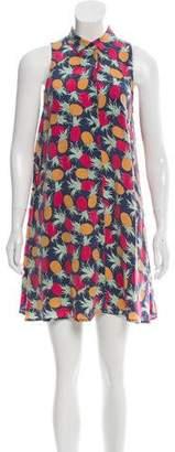 Equipment Silk Pineapple-Printed Dress