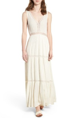 Women's Ella Moss Katella Lace Inset Maxi Dress $258 thestylecure.com