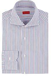 Isaia Men's Striped Cotton Poplin Dress Shirt - Stripe