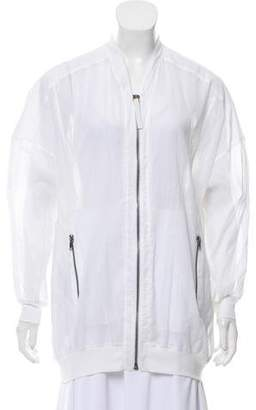 Helmut Lang Sheer Zip Front Jacket