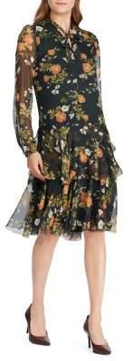 Lauren Ralph Lauren Floral Georgette A-Line Dress