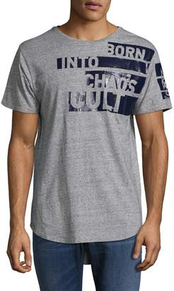 Cult of Individuality Men's Long Scoop Bottom Cotton Tee