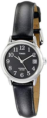 Timex Women's T2N525 Indiglo Leather Strap Watch