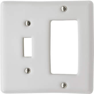 Rejuvenation Porcelain Toggle / GFCI Switchplate