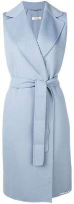 Max Mara 'S sleeveless belted coat