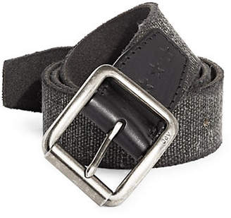 John Varvatos Textured Canvas Belt