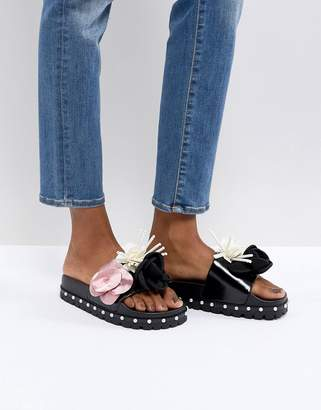 Sixty Seven SixtySeven Belle 3D Flower Slide Sandals