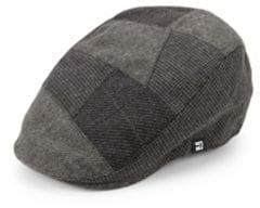Block Headwear Pieced Pattern Newsboy Hat