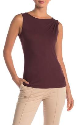 Lafayette 148 New York Sleeveless Asymmetrical Shoulder Top