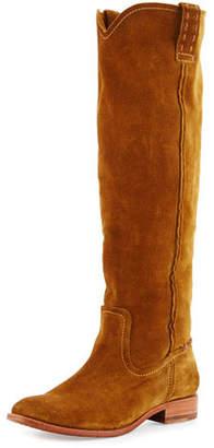 Frye Cara Suede Knee Boot, Wheat