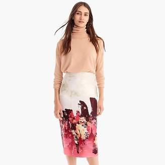 J.Crew Collection floral jacquard painter pencil skirt