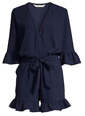 Trina Turk Women's Tourist Ruffled Faux-Wrap Romper