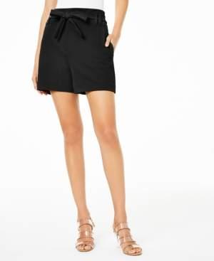 Bar III Paperbag-Waist Shorts, Created for Macy's
