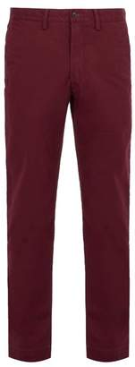 Polo Ralph Lauren Slim Fit Cotton Blend Chino Trousers - Mens - Burgundy