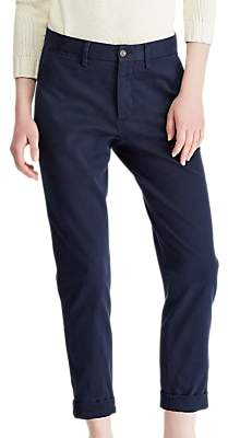 Ralph Lauren Polo Brooke Stretch Twill Cropped Trousers, Aviator Navy