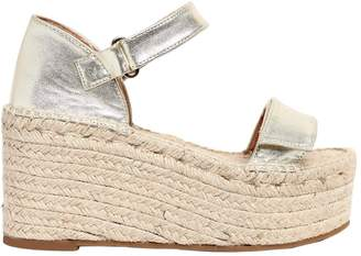 Sarah Summer 90mm Metallic Leather Wedges