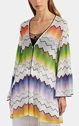 Missoni Mare Women's Zigzag-Knit Mini-Caftan - White