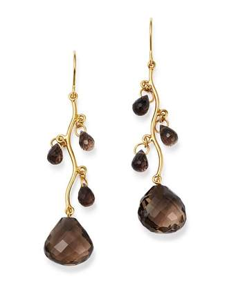 Bloomingdale's Smoky Quartz Chandelier Earrings in 14K Yellow Gold - 100% Exclusive