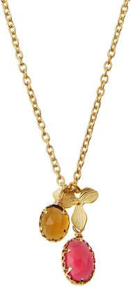 Indulgems Mixed Quartz & Flower Charm Necklace